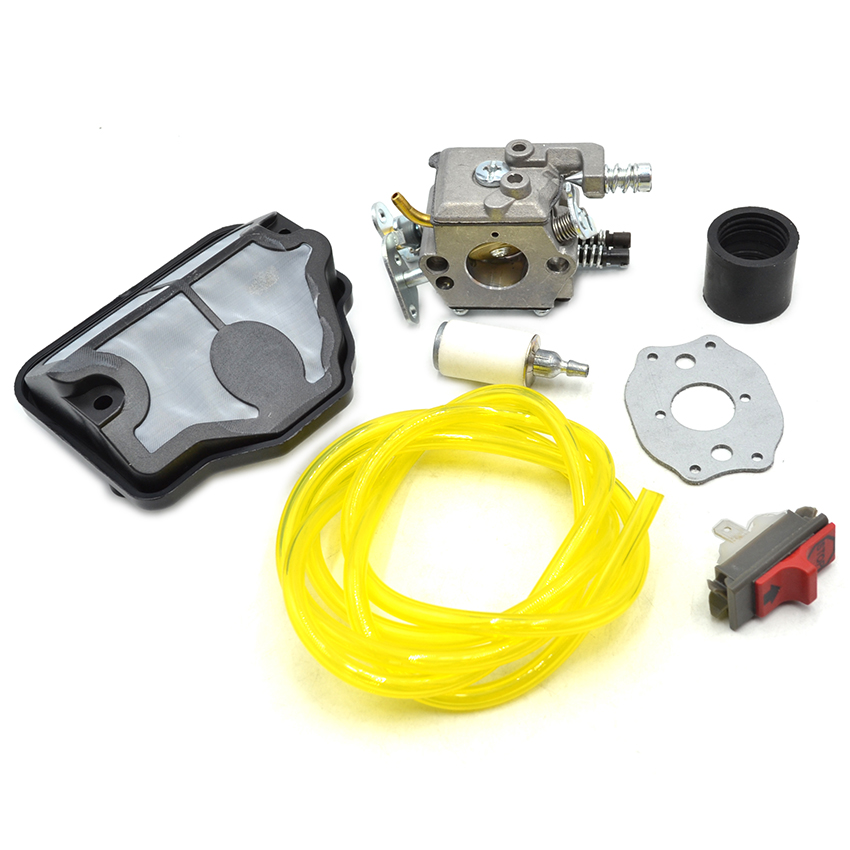 Carburetor Air Fuel Filter Hose Line Stop Switch Kit For HUSQVARNA 36 41 136 137 141 142 Chainsaw #530071987  цены
