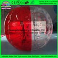 Toys for children diameter 1.2 meter half red and half transparent inflatable knock ball