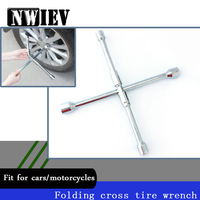 NWIEV Cross type Folding Wrench Car Repair Tools For Lada Granta Vesta Volvo XC60 S60 XC90 V70 Peugeot 307 206 207 Accessories