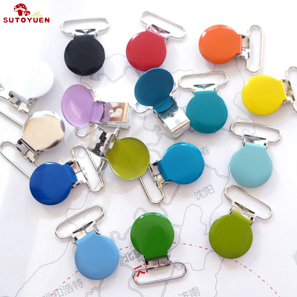 Soother Dummy Nipple Holder Wooden Suspender Clips Colorful Baby Pacifier Cute