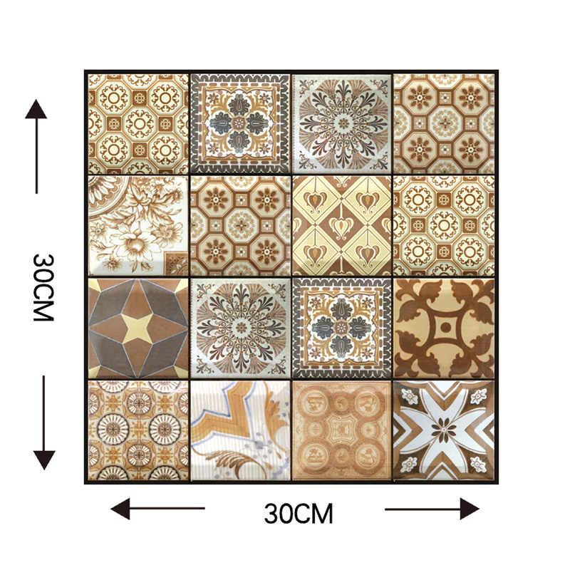 Cegły 3D kamienne samoprzylepne panele ścienne dla salon kuchnia Backsplash ognisko wodoodporny pvc tapeta do łazienki wystrój domu 30x30cm