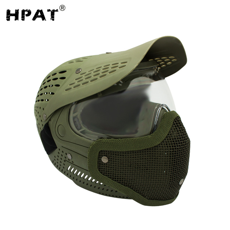 SPUNKY New Arrival Airsoft Anti Fog Full Face Paintball Mask with Wire Mesh Full Coverage Protection