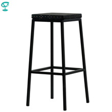 95379 Barneo N-301 высокий барный табурет черный металлический стул с деревянным сидением стул для кафе стул дизайнерский стул для улицы табурет для лофта стул барный в Казахстан по России