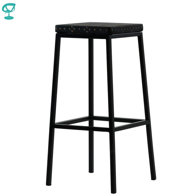 95379 Barneo N-301 haut métal bois cuisine petit déjeuner intérieur tabouret Bar chaise cuisine meubles noir livraison gratuite en russie