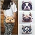 Mulheres mensageiro saco retro Impressão 3D Animal cão Bolsa de Ombro feminina bolsas pequena cadeia saco bolsa feminina bolsas e bolsa