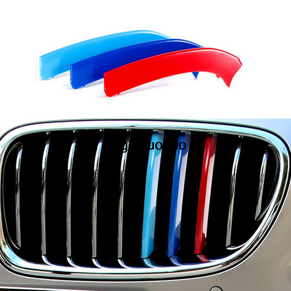 D M Sport Car Grille Sport Stripe ABS Decal Sticker Fit For - Bmw grille stripe decals