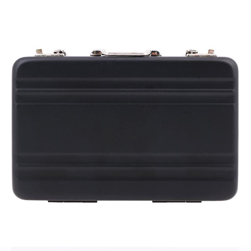New Fashion Metal Mini Suitcase Business Card Name Card Holder Case Box 4 Colors