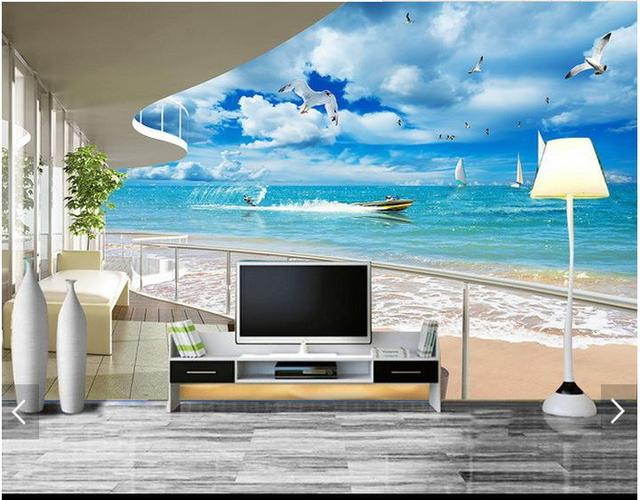 Buy custom 3d photo wallpaper 3d wall for Wallpaper 3d for room