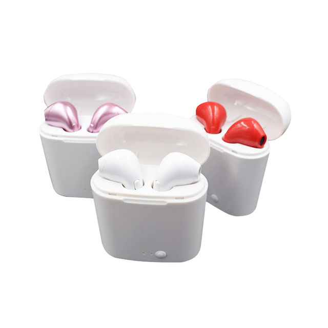 i7s tws wireless earphones stereo earbud with charging box bluetooth earphone with mic 5color choose i7s bluetooth headset
