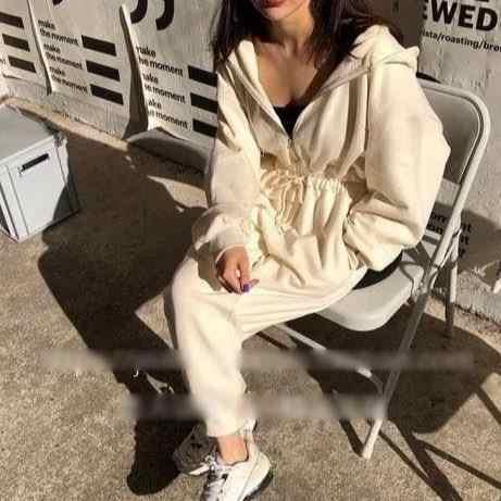 Весна серый/черный женский спортивный костюм комбинезоны 2019 женский комбинезон с капюшоном на молнии хлопковая сексуальная одежда для бега Униформа-комбинезон AE192