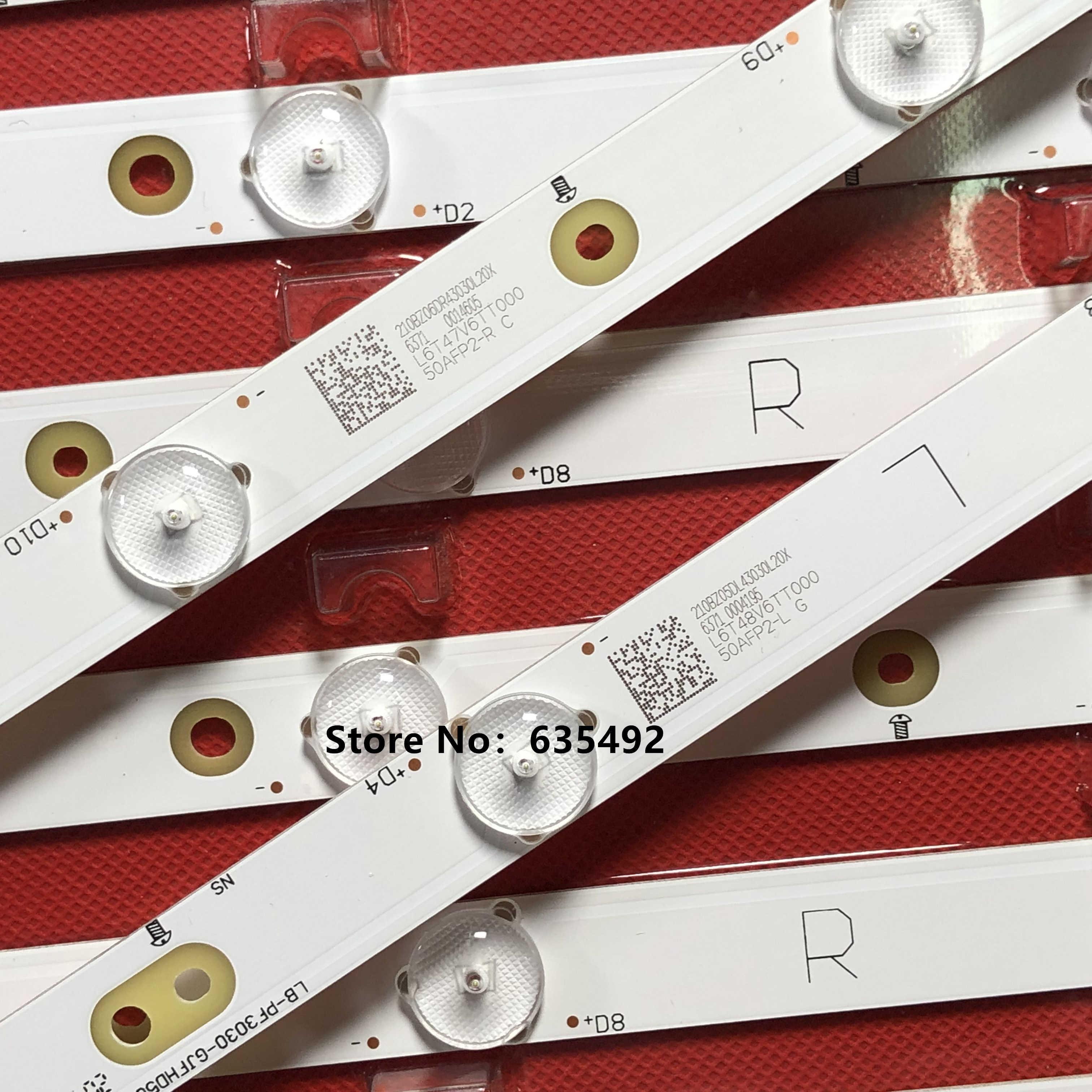 جديد LED شريط إضاءة خلفي ل 500TT25 50PUT6400 50PFH4009/88 50PFL6340/T3 50PFL6540 50PFL5V40 TPT500DK-QS1 50PFK4509/12 50PFA4509