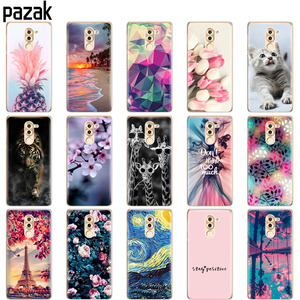 case for huawei honor 6X case coque soft tpu silicon cover on for huawei honor 6 x copas bumper Skin shockproof fundas cute cat(China)