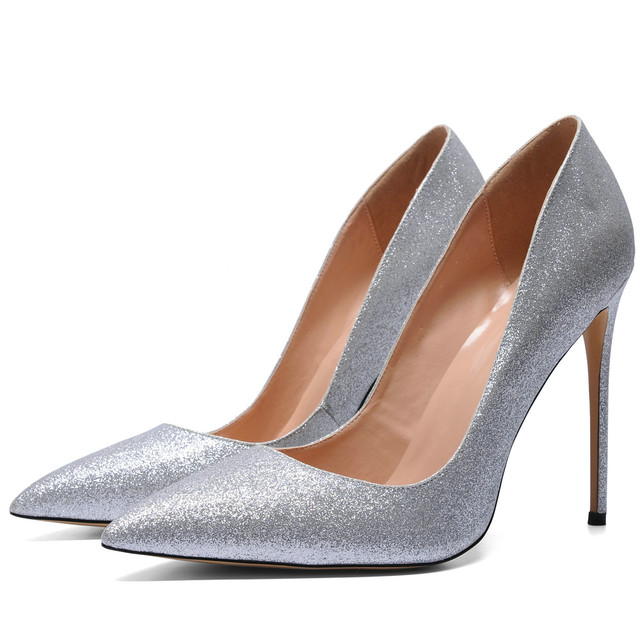 Online Shop AIWEIYi Women High Heels Prom Wedding Shoes Ladies Gold ... 1b9874add6ea