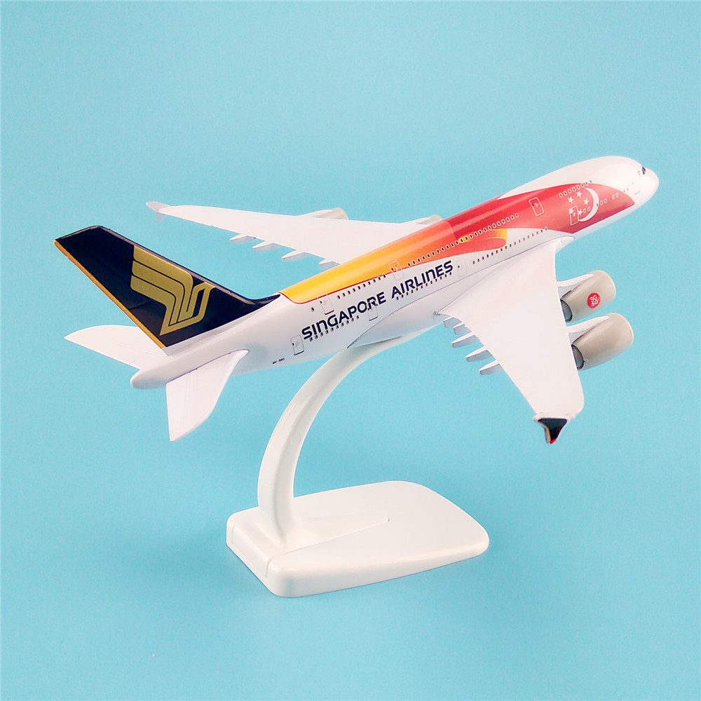 20cm metal alloy plane model air singapore flag airlines aircraft