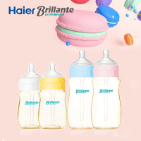 Haier Brillante PPSU Anti Colic Baby Feeding Bottles Macaroon Series Milk Bottles Fits For 0 6