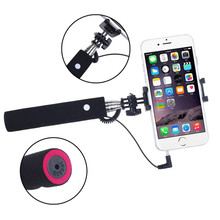 Superior Quality Wired Remote Selfie Stick Monopod Extendable Pole For Smartphone Free Shipping NOM17