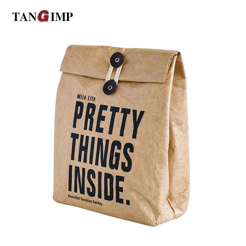 Tangimp 8l Cooler Lunch Box Bag Insulated Tyvek Brown