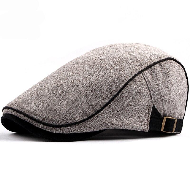 2e095932fe02 HT1578 2018 New Spring Summer Men Women Hat Fashion Western Style Duckbill  Ivy Flat Cap Hat Adjustable Cotton Newsboy Beret Cap