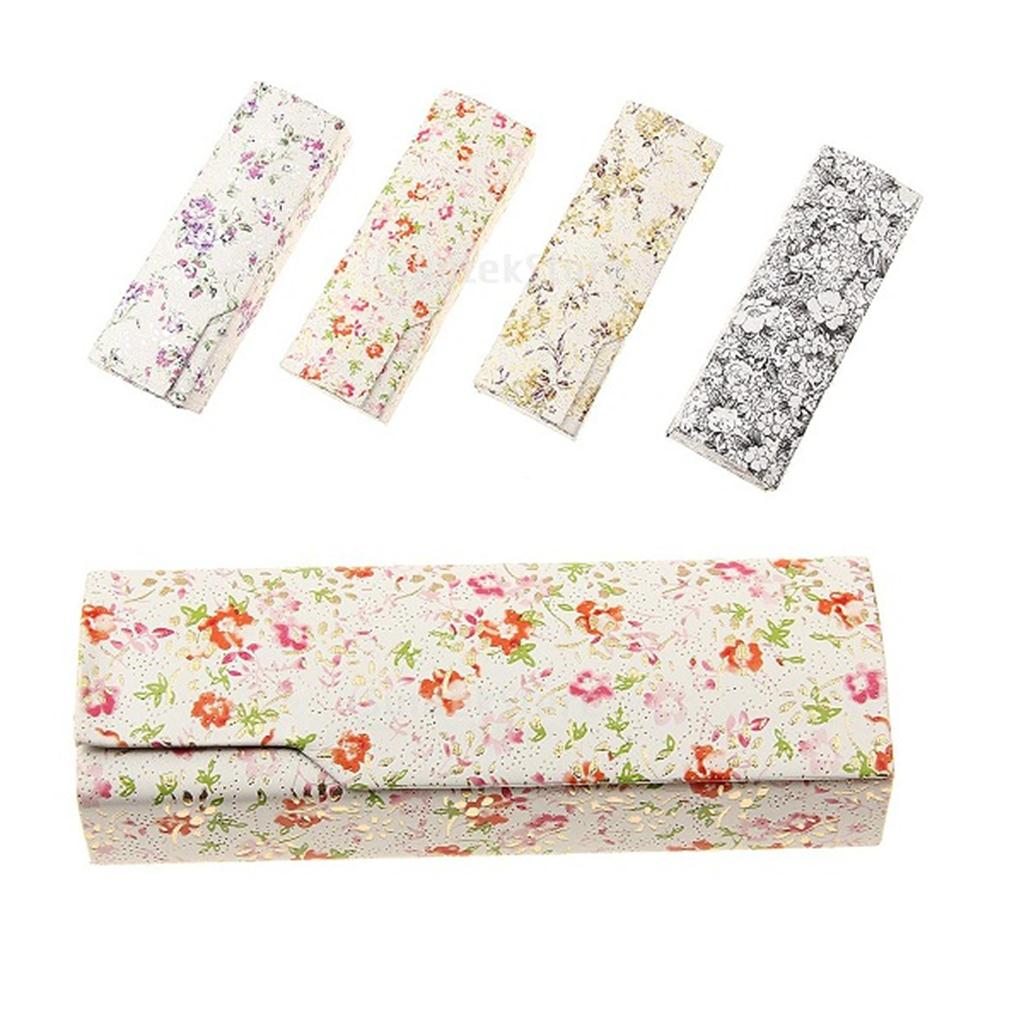 1 Piece Outdoor Floral Glasses Box Holder Eyeglasses Sunglass Eyewear Cases Spectacle Storage Case Color By Random 16*5*3cm