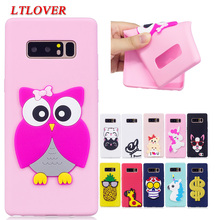 Coque For Galaxy Note 8 Cases Cute 3D Cartoon Soft Silicone Back Cover For Samsung Galaxy Note 8 Cases Full Protective Shell