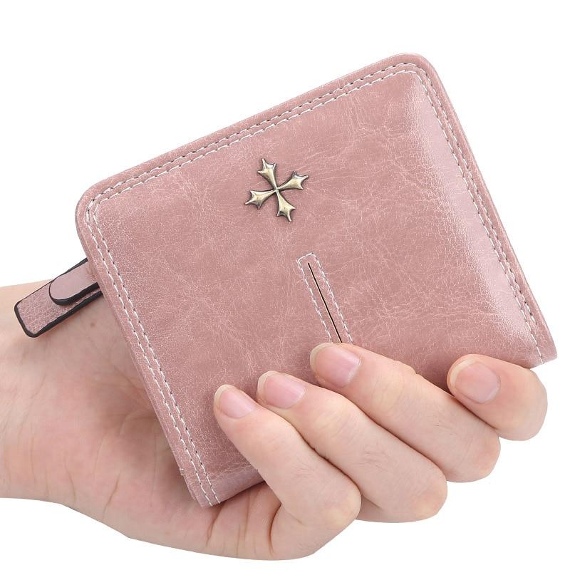 Women Wallets Mini Purse Ladies Cute Flower Wallet Zipper Coin Pocket Card Holder Female Wallets 2019 Small Slim Red Black Walet