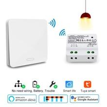 Wifi Intelligente timer interruttore 2500 W wifi interruttore del relè RF433 cinetica self powered lavoro di Controllo Vocale con Alexa Google IFTTT Vita Intelligente