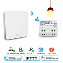 Wifi Smart timer switch 2500W wifi relay switch RF433 kinetic self powered Voice Control work with Alexa Google IFTTT Smart Life
