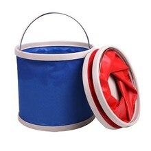 Outdoor travel portable folding bucket Oxford cloth storage bag fishing 24cm*22.5cm free shipping
