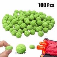 100 шт Круглые Сменные пенные пулевые шарики, сменные совместимые для Nerf Rival Blasters Apollo, игрушечный пистолет для мальчиков, пулевые пули