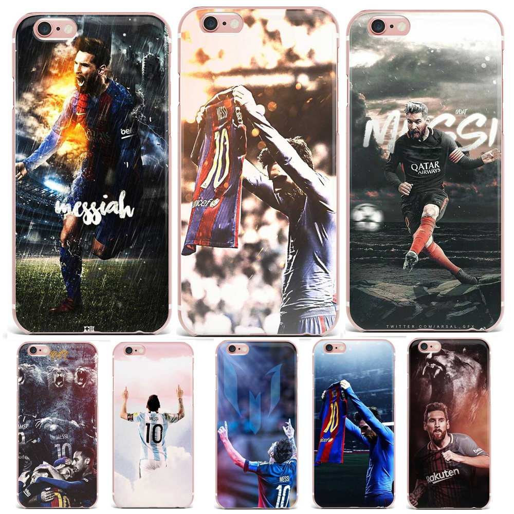 Soccer Player Lionel Messi Patterned Soft TPU Clear Phone Cases For iPhone X 8 7 6 6S Plus 8 SE 5 5S Silicone Phone Back Cover