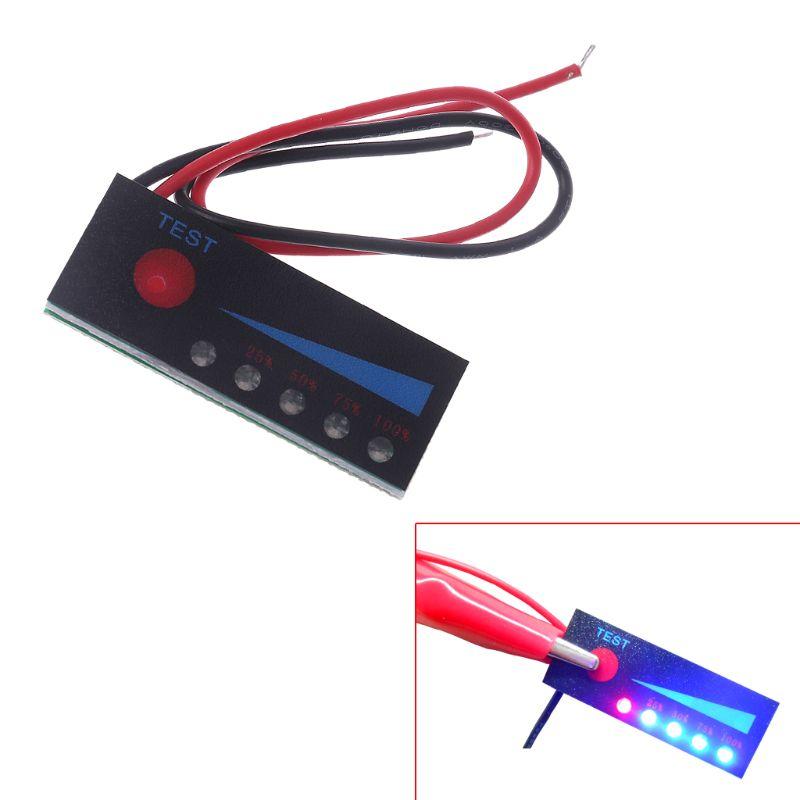 3.7V 2S 3S 4S 18650 Li-ion Lipo Lithium 12V Lead Acid Battery Level Indicator Tester LCD Display Meter Module Capacity Voltage