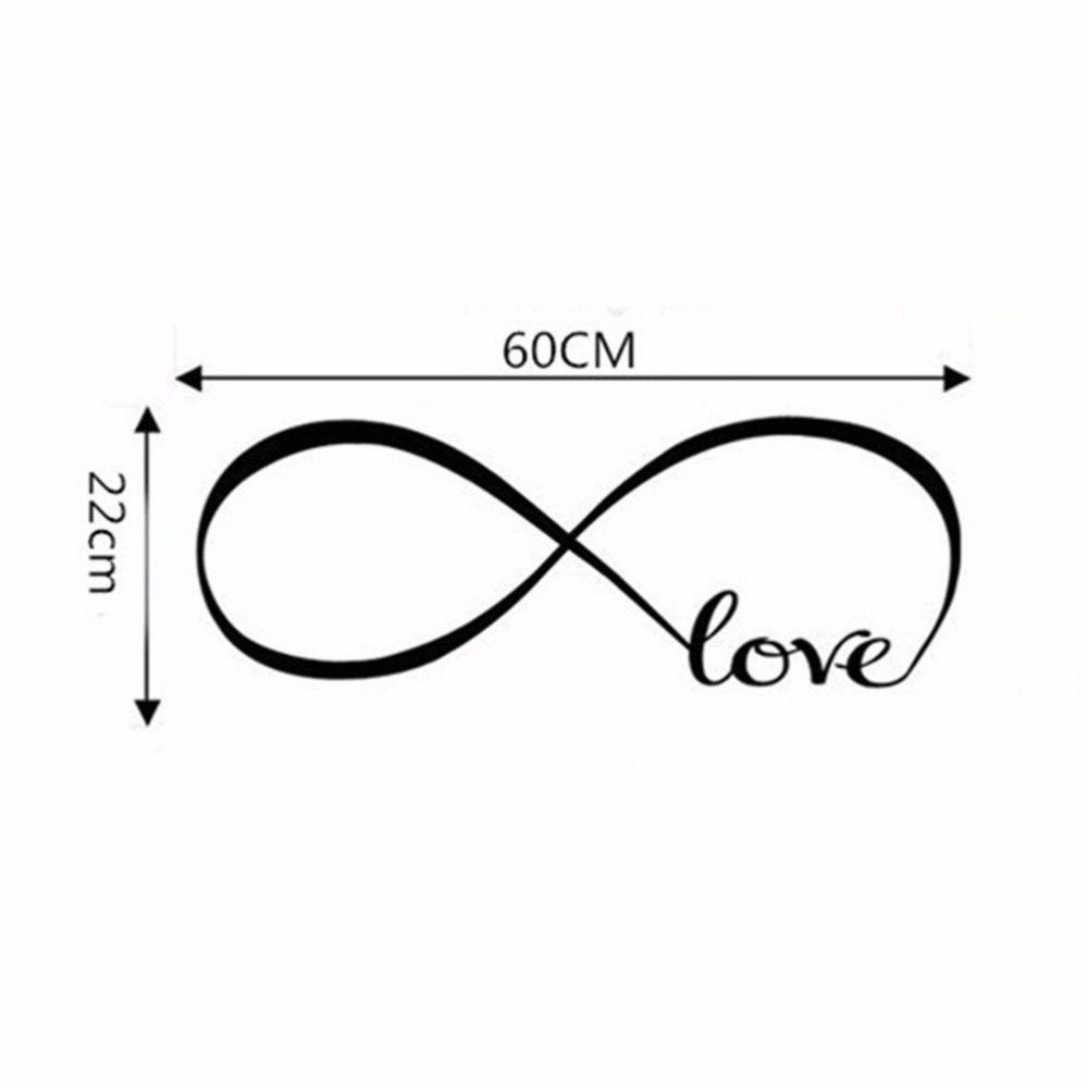 1pcs new fashion hot sale infinity symbol word love vinyl art wall 1pcs new fashion hot sale infinity symbol word love vinyl art wall sticker wall decals bedroom wall stickers home decoration in wall stickers from home biocorpaavc Image collections