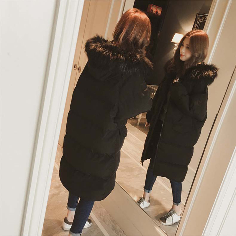 Cappotto Di Donne Streetwear il Inverno Pelliccia Moda Giù E X Addensare Giacca Dimensioni Grandi Sottile Beige Cotone Delle lungo Signore Nero Parka vIBwv5q