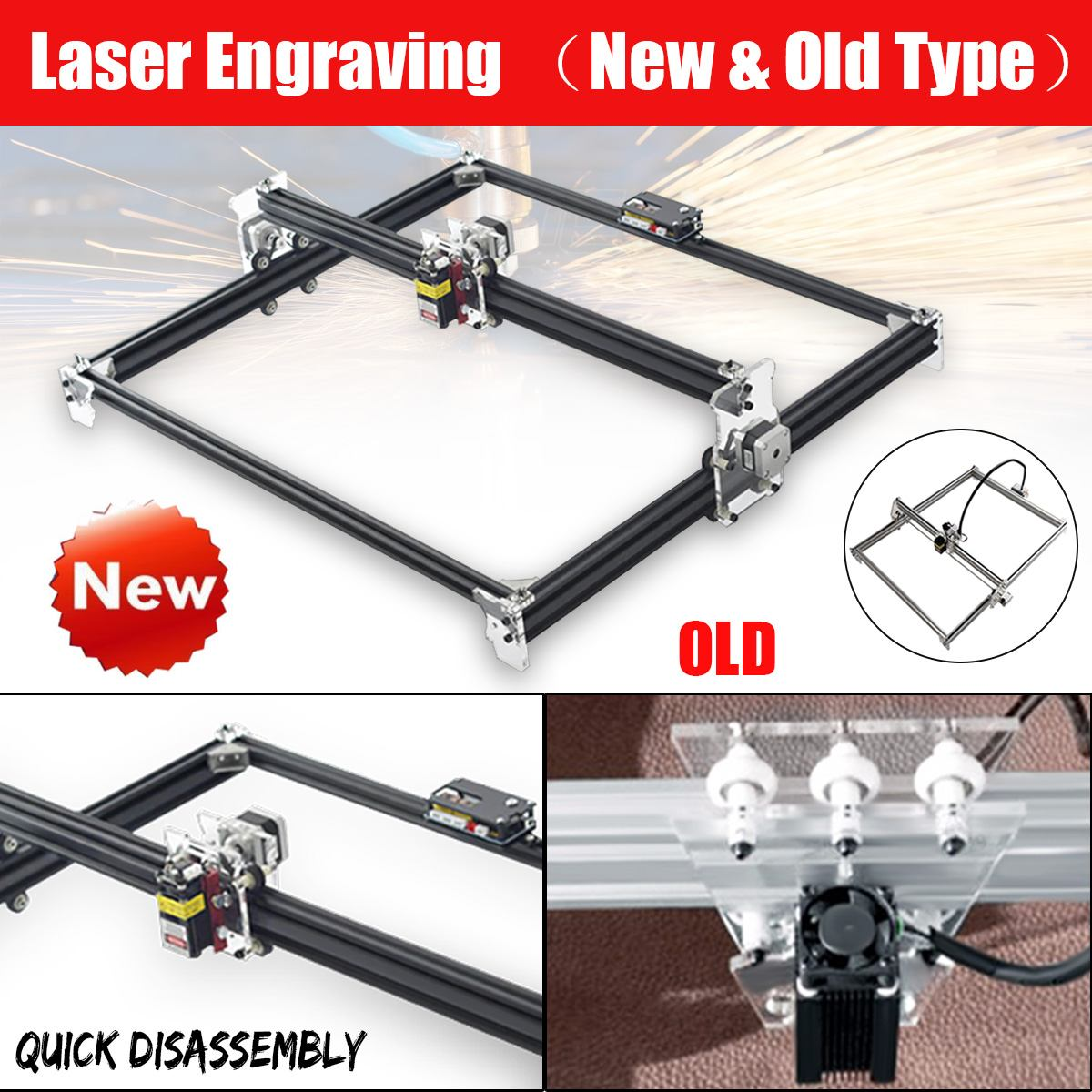 2-Axis DVP 6550 Laser Engraving Machine Wood Router Laser Cutter DIY Laser Engraver Machine CNC Router Best Advanced Toys