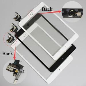 Image 1 - 10 יח\חבילה עבור iPad מיני 1/2 מיני 3 מגע מסך Digitizer עצרת עם לחצן בית & בית להגמיש כבל + IC מחבר