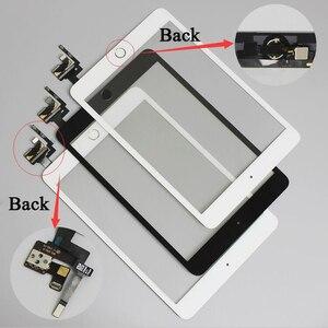 Image 1 - 10 ชิ้น/ล็อตสำหรับ iPad mini 1/2 mini 3 หน้าจอสัมผัส Digitizer ประกอบกับปุ่ม Home และ Flex Cable + IC Connector