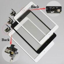 10 sztuk/partia dla iPad mini 1/2 mini 3 ekran dotykowy Digitizer montaż z przyciskiem Home & Home Flex kabel + IC złącze
