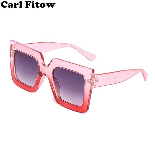 febec23650 2018 Italy Luxury Brand Oversized Square Sunglasses Women Men Brand  Designer Retro Frame Sun Glasses For