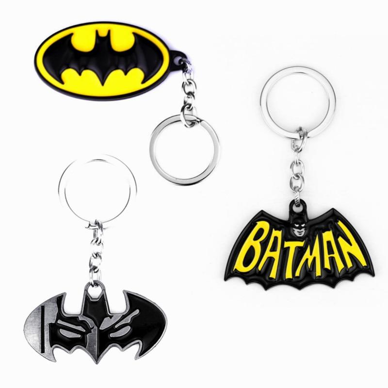 Dc comics super-heróis batman bastão pingentes chaveiro filme jóias chaveiro chaveiros presentes lembrança