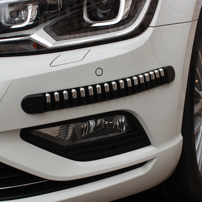 VOLTOP 4pcs Car Anti collision Strip Car Bumper Protector Strips Auto Guard Edge Corner Buffer Strip