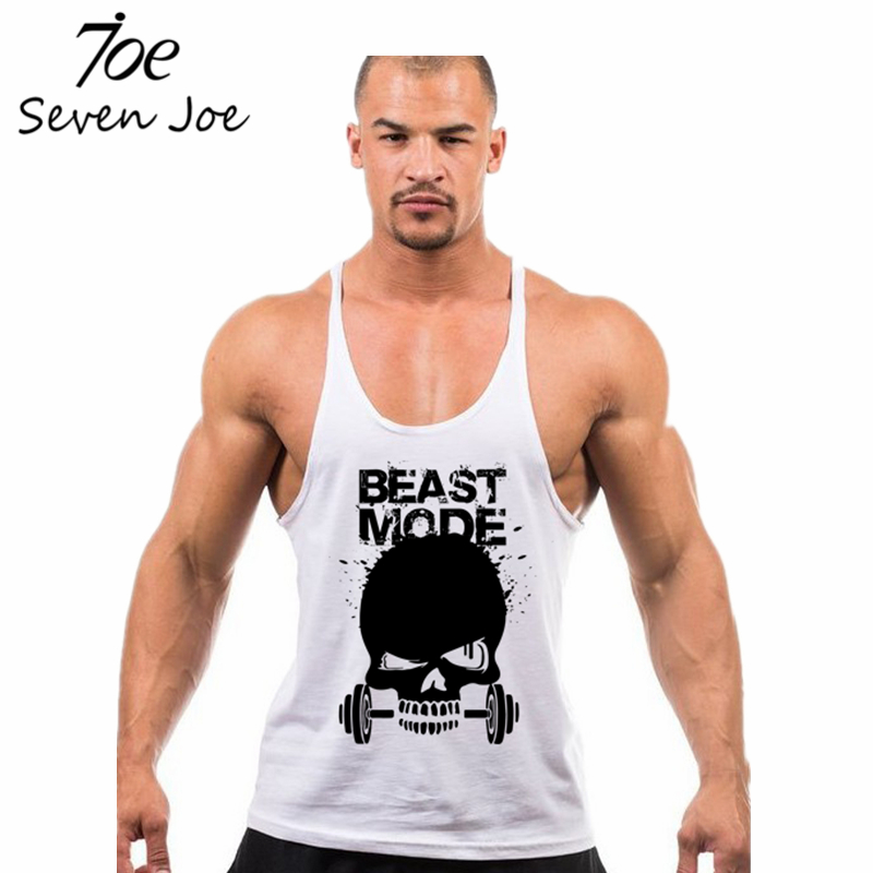 444e514bea9ab Skull Weightlifting print Stringer Tank Top Men Bodybuilding and Fitness  Vests Cotton Singlets Muscle Tops-in Tank Tops from Men s Clothing on ...