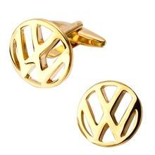 High quality fashion men's shirts Cufflinks logo logo gold Cufflinks brass mass transportation wholesale and retail
