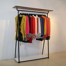Apparel clothing store shelf floor display rack wrought iron hangers ladies underwear bag rack clothes rack