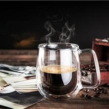 hot deal buy heat resistant double wall glass cup tea drinkware cup handmade healthy drink mug tea mugs transparent drinkware