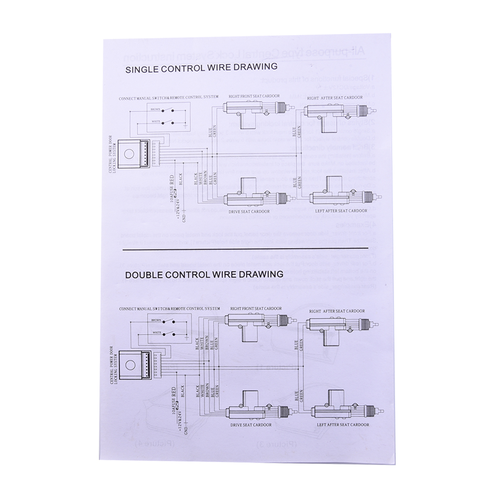 2 Car Door Alarm System Protection Security Remote Central Locking Schematic Features Immobiliser And