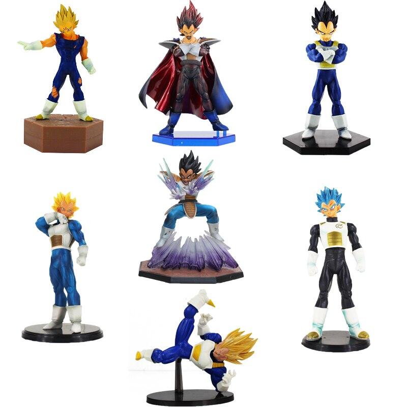 8 Styles Dragon Ball Z Différentes Tailles Vegeta Figure Jouet Super Saiyan Vegeta Roi DBZ Action Figure Brinquedos Modèle Poupées