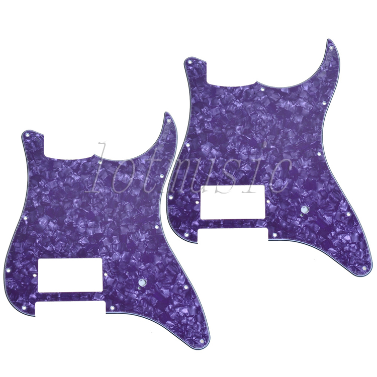 2Pcs Purple Pearl Electric Guitar Pickguard 4Ply 11 Hole For Electric Strat Style Replacement new 1pcs electric guitar pickguard strat st yellow style 3 ply hsh a62