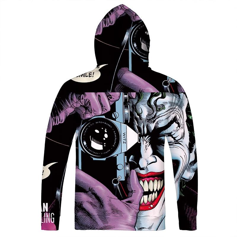 autumn New Funny The Joker 3D Hoodie Sweatshirt Fashion Design Full Printing Sweatshirt Long Sleeve Harajuku Tops Plus Size 5XL