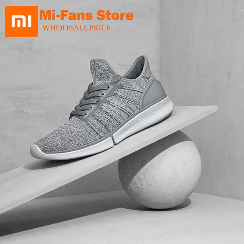 New Original Xiaomi Mijia Smart Shoes Fashionable High Good Value Design Replaceable with Phone APP Control Sport Running Shoes [ international version ] xiaomi mijia yunmai premium smart scale body fat scale with fitness app