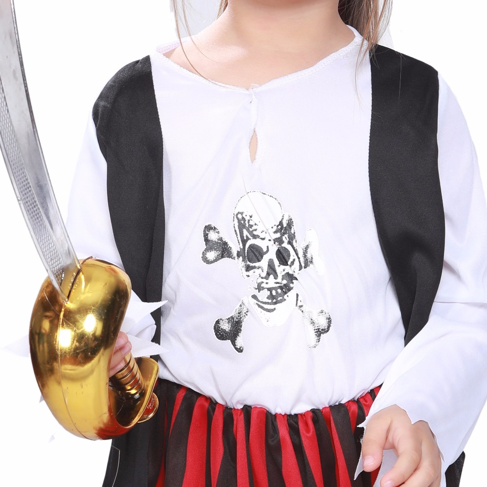 3 12 Kids Costumes Girls Little Pirate Jack Sparrow Costume Baby Girl Anime Cosplay Halloween Fancy Dress Party Outfit 2018 NEW in Girls Costumes from Novelty Special Use